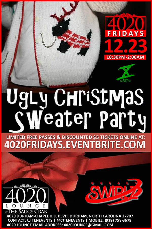 4020 Fridays presents an Ugly Christmas Sweater Party