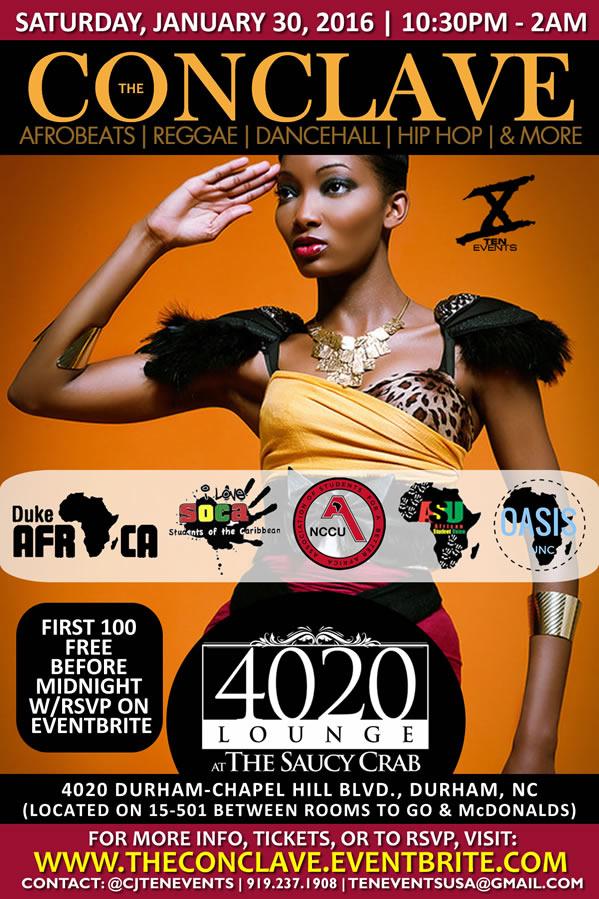 The Conclave -{AfroBeats x Reggae x Soca X Hip Hop}