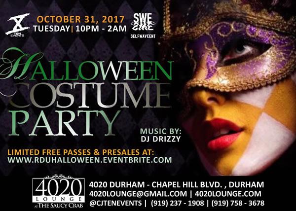 RDU Halloween Costume Party - 10/31/2017