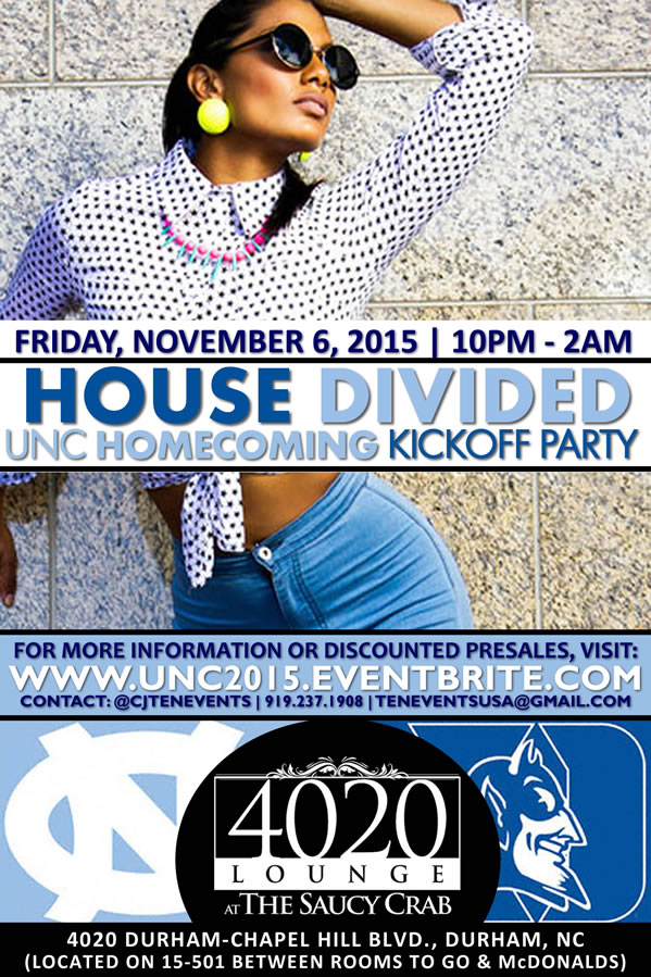 UNC 2015 Homecoming Kickoff Party | A House Divided