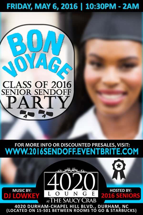 Bon Voyage: Class of 2016 Senior Sendoff | May 6, 2016