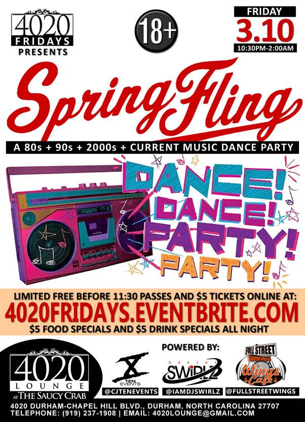 Spring Fling - 4020 Fridays