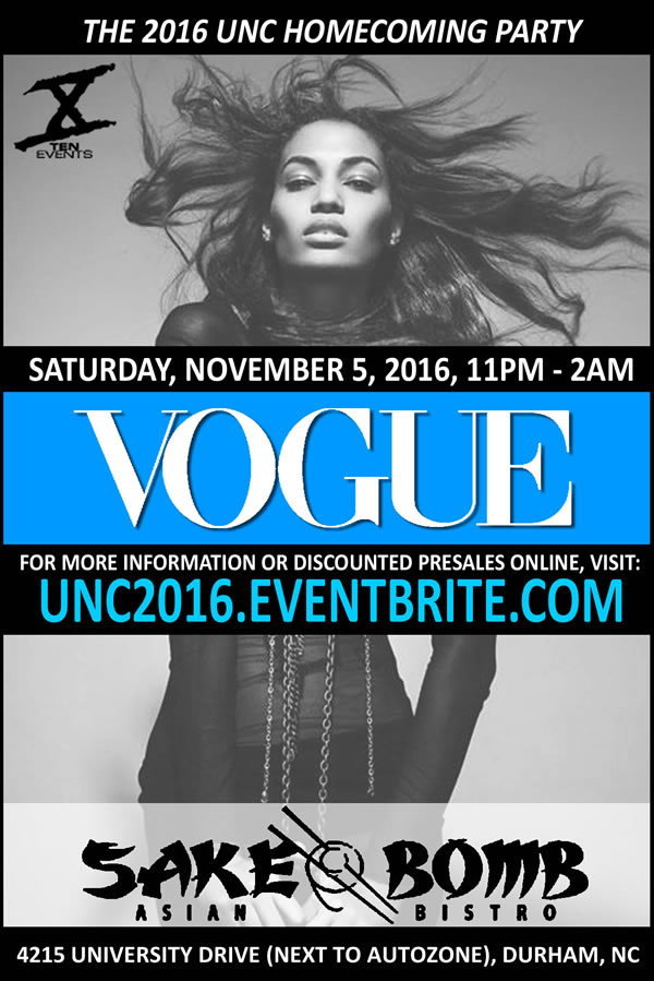 Vogue | The 2016 UNC Homecoming Grand Finale