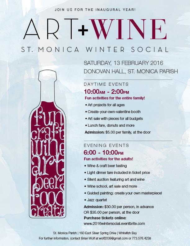Art + Wine Event Flyer