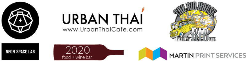 Thank you to our sponsors: Neo Space Lab, 2020 Food and Wine Bar, Martin Print Services, The Rib House and Urban Thai