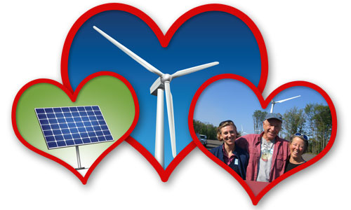 Show your love for clean energy!