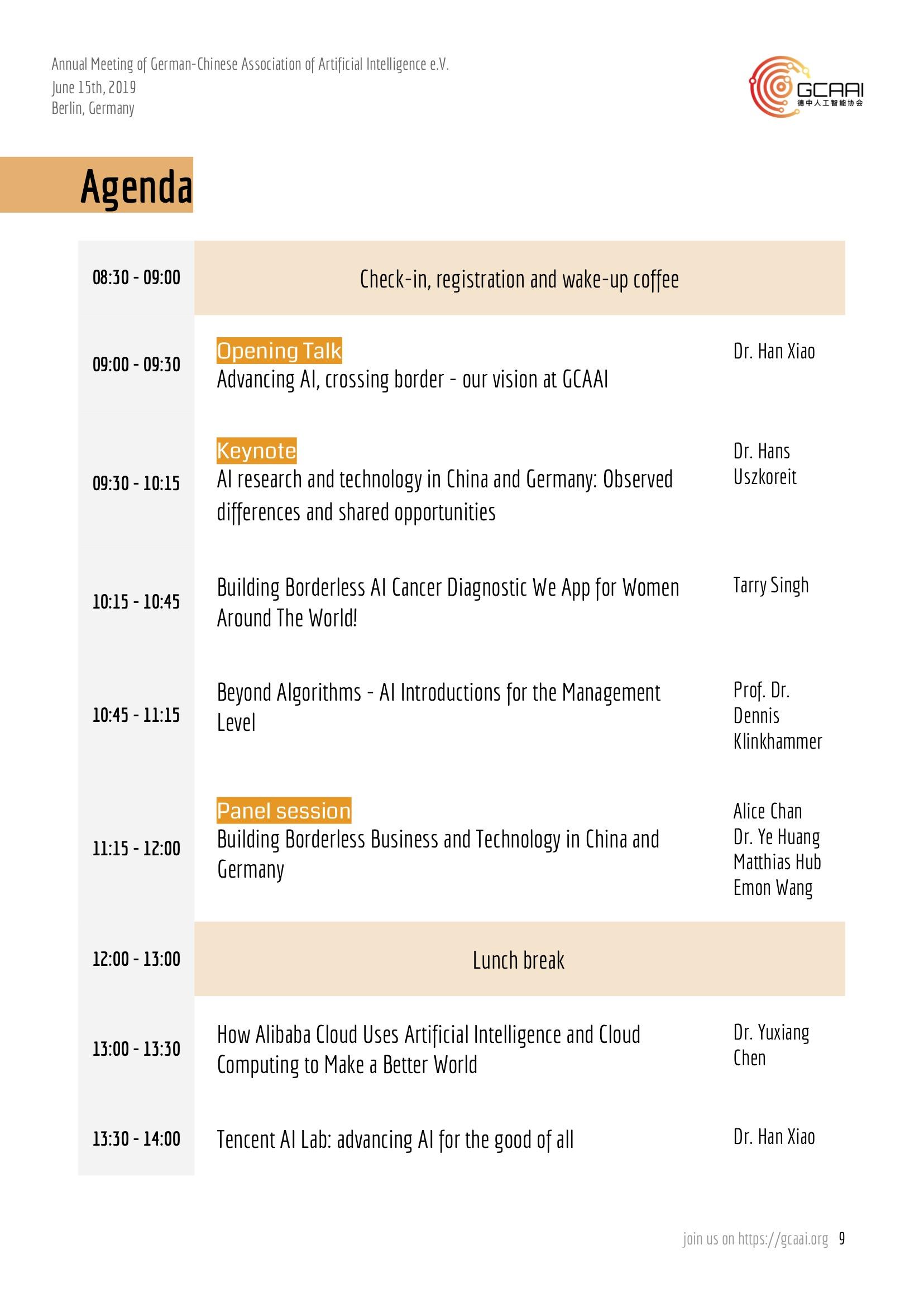 GCAAI Annual Meeting Agenda
