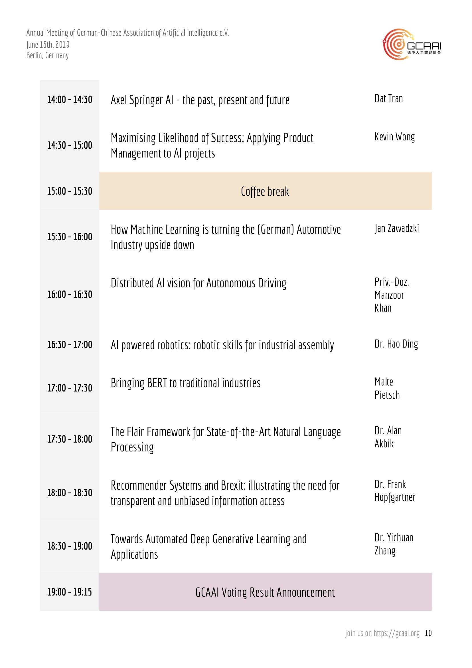 GCAAI Annual Meeting Agenda - Part 2