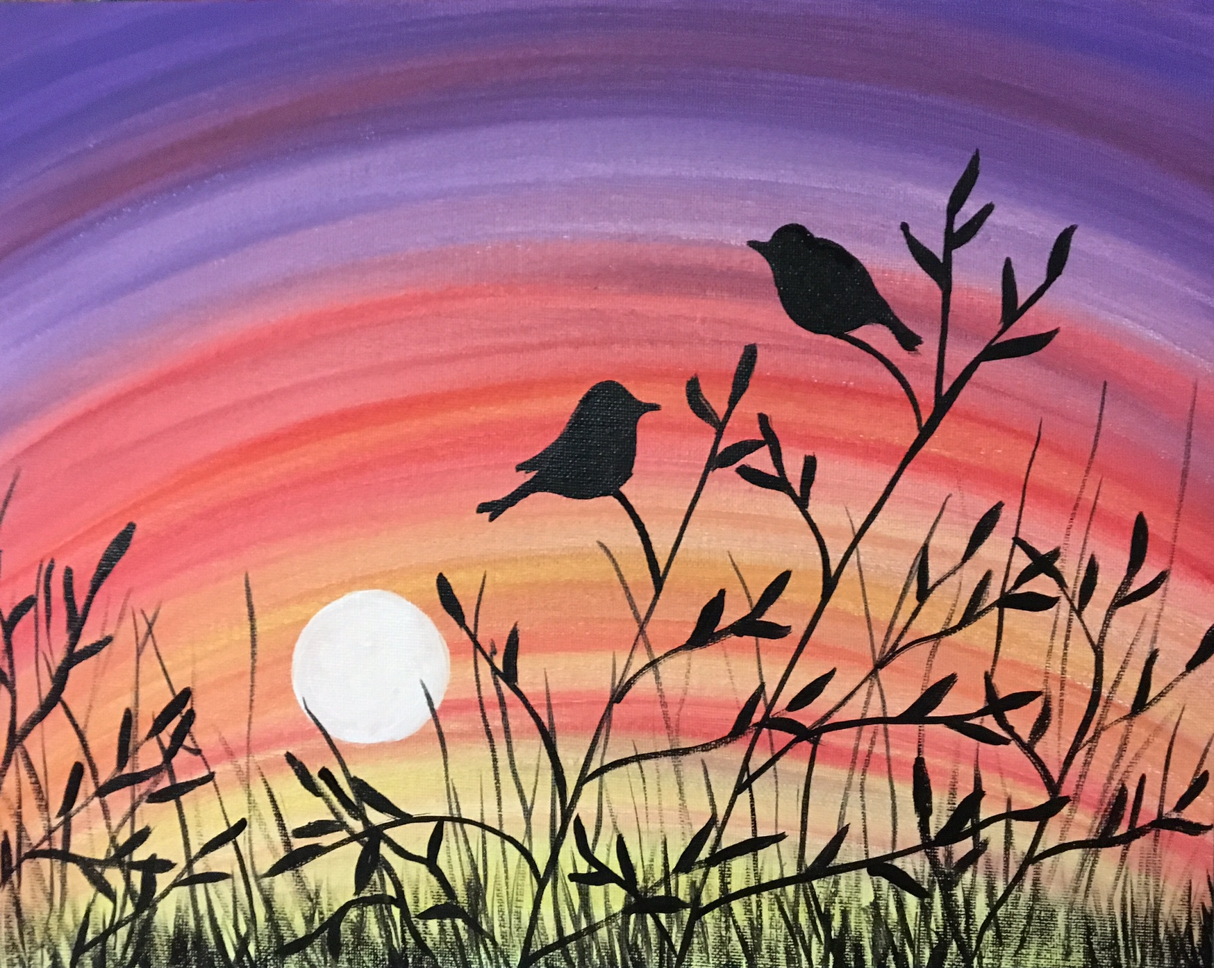 love is a battlefield (birds) paint-along - farnsworth house inn
