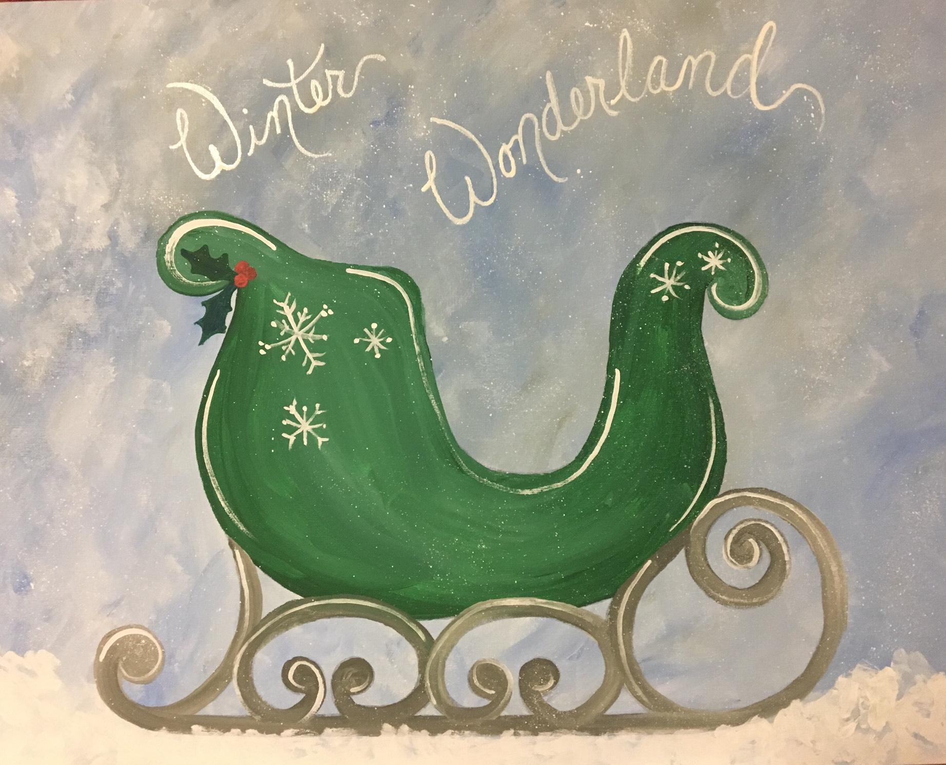 winter wonderland sleigh paint-along - farnsworth house inn tavern
