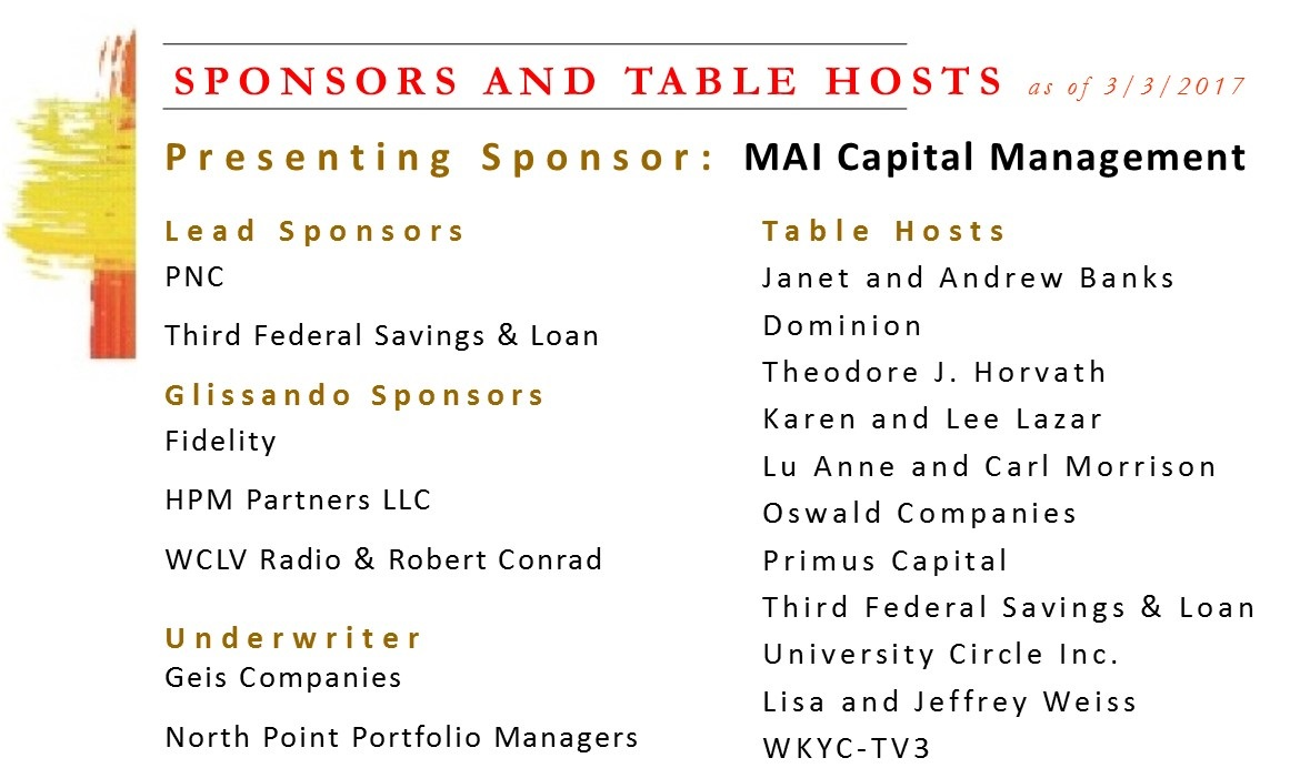 Sponsors and Table Hosts