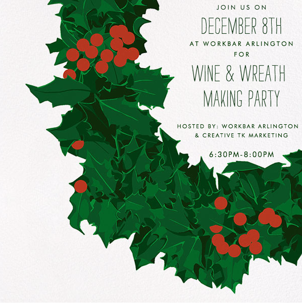 wine and wreath