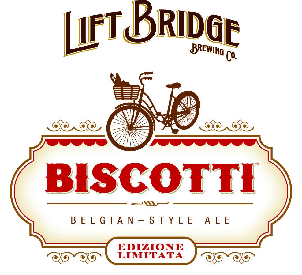 Biscotti Beer Logo - Lift Bridge Brewing Co