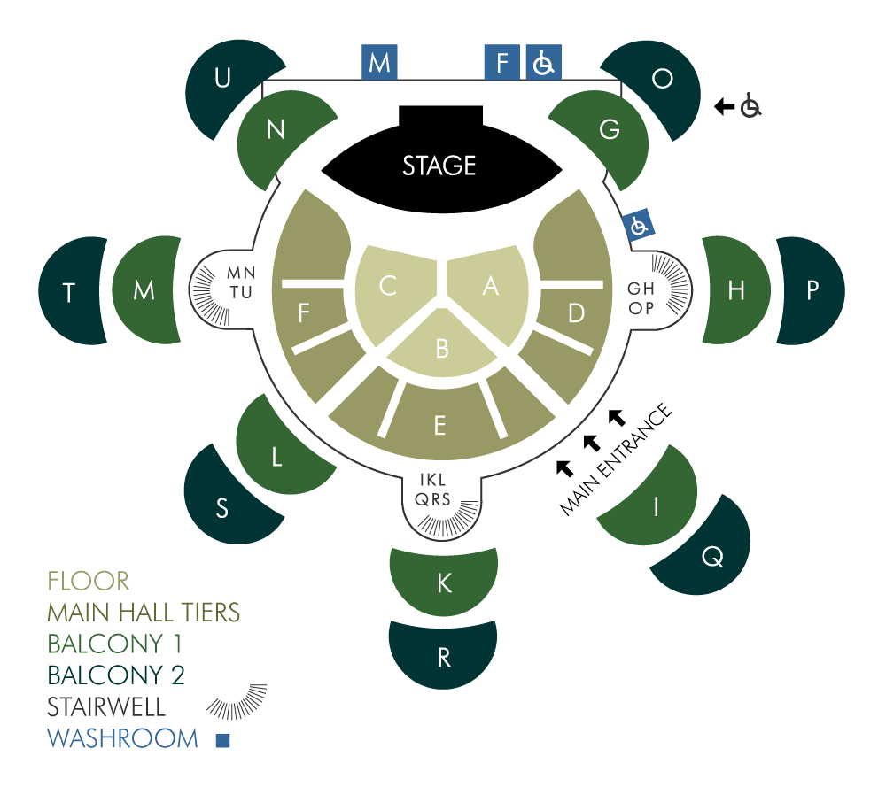 Convocation Hall Seating Map