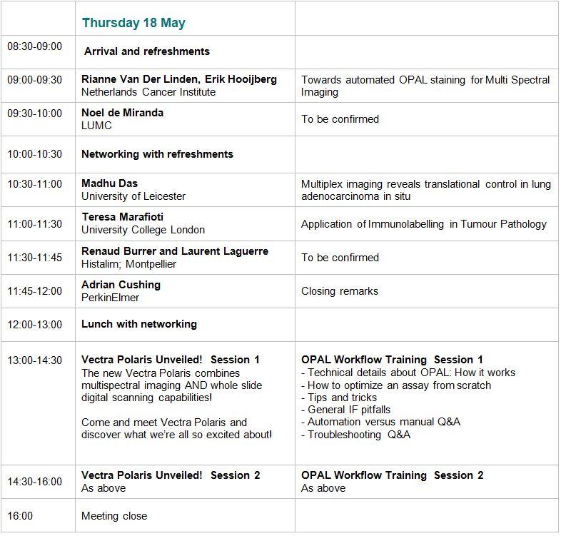 Agenda - Thursday 18 May