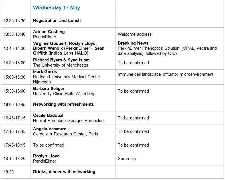 Agenda - Wednesday 17 May