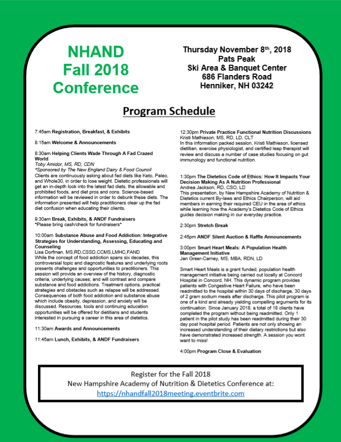 Flyer Page 1- NHAND 2018 Fall Meeting