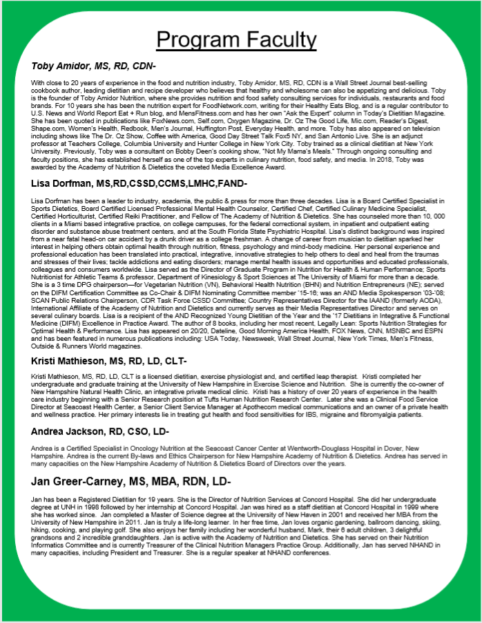 Flyer Page 2- NHAND Fall 2018 Meeting