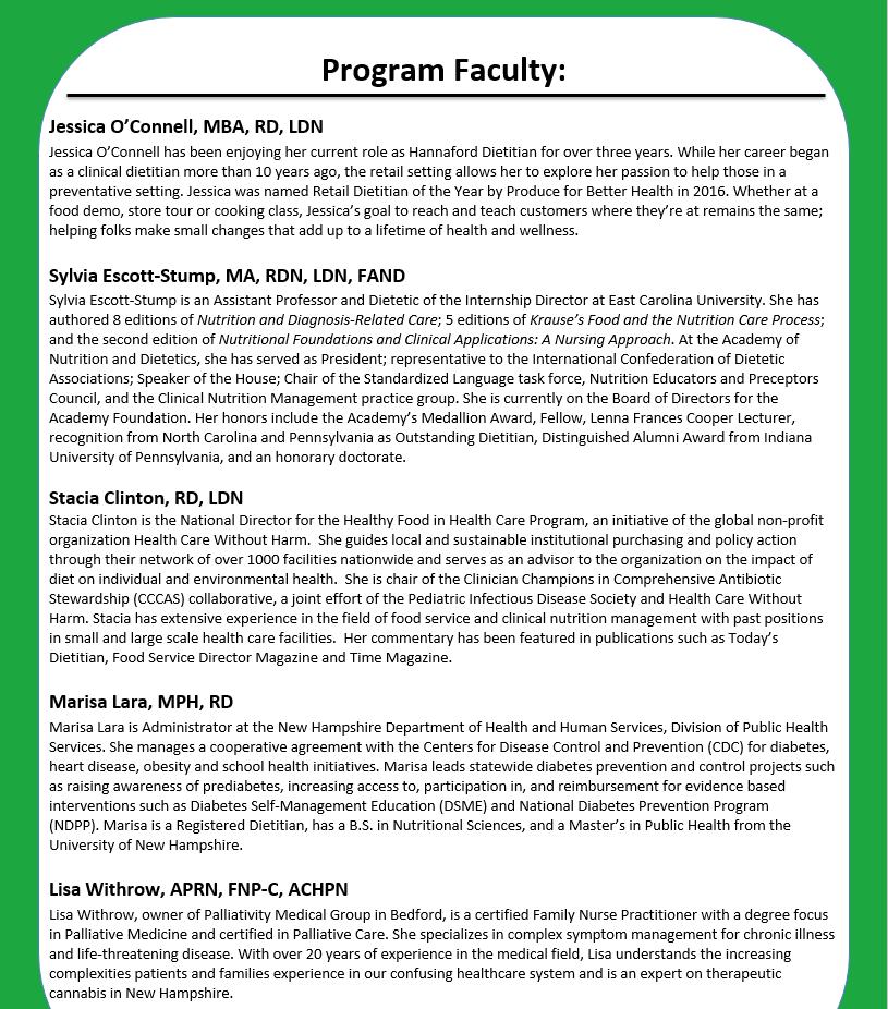 Program Faculty 2017