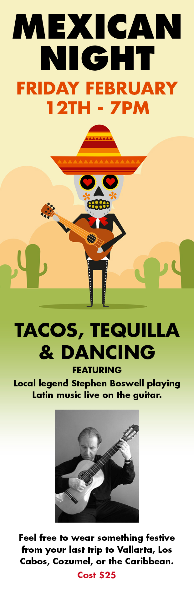 Mexican Night, Friday 12th February at 7pm