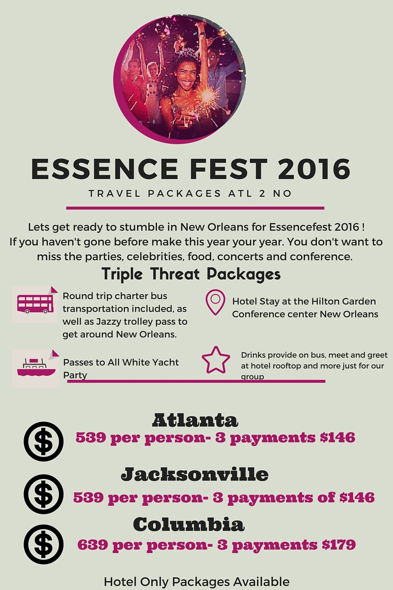 Schedule Essence Music Festival | Rachael Edwards