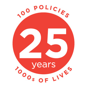 YLI 25 Logo: 100 Policies, Thousands of Lives