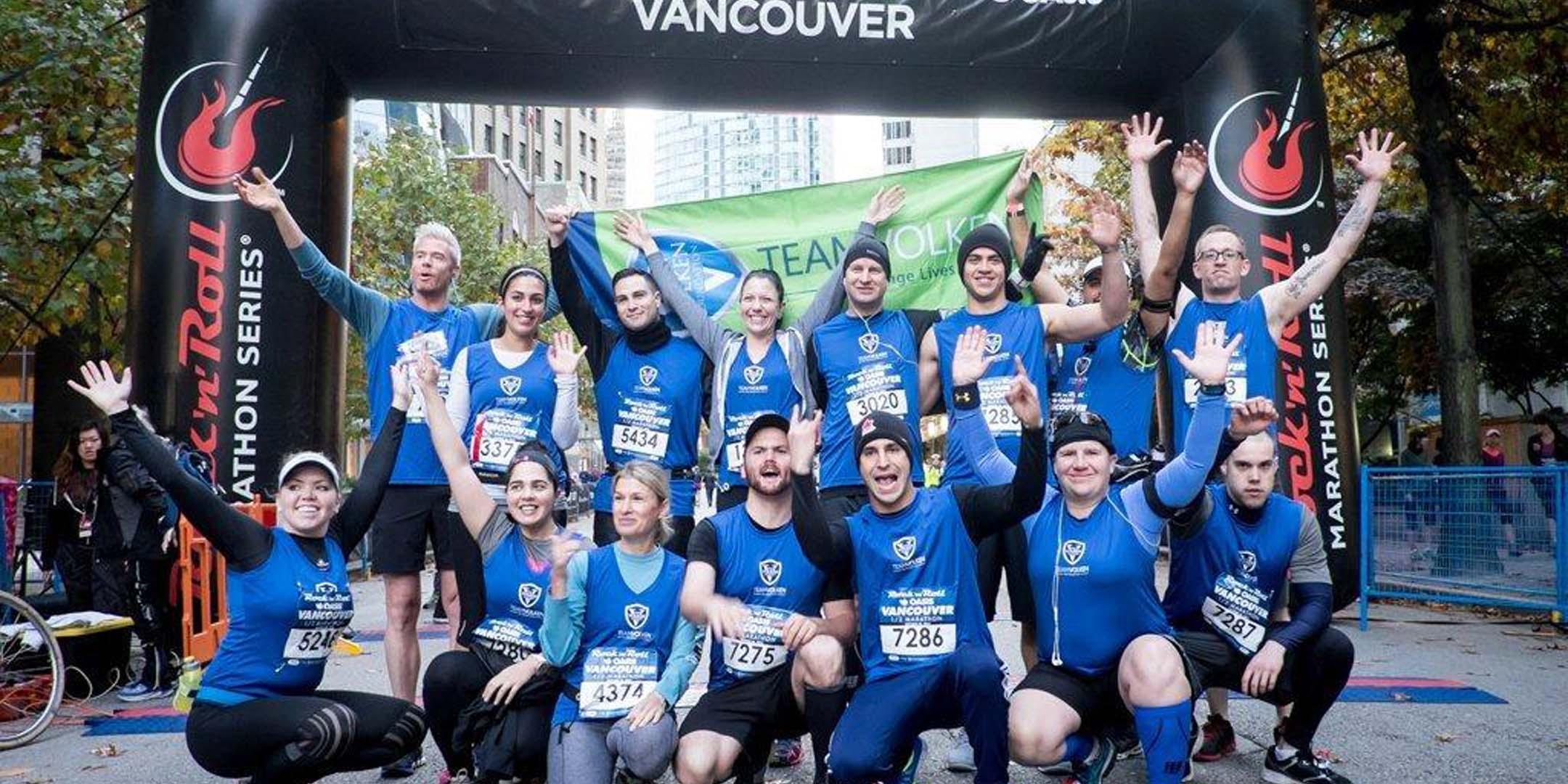 TEAM VOLKEN at Rock n Roll Vancouver Half Marathon