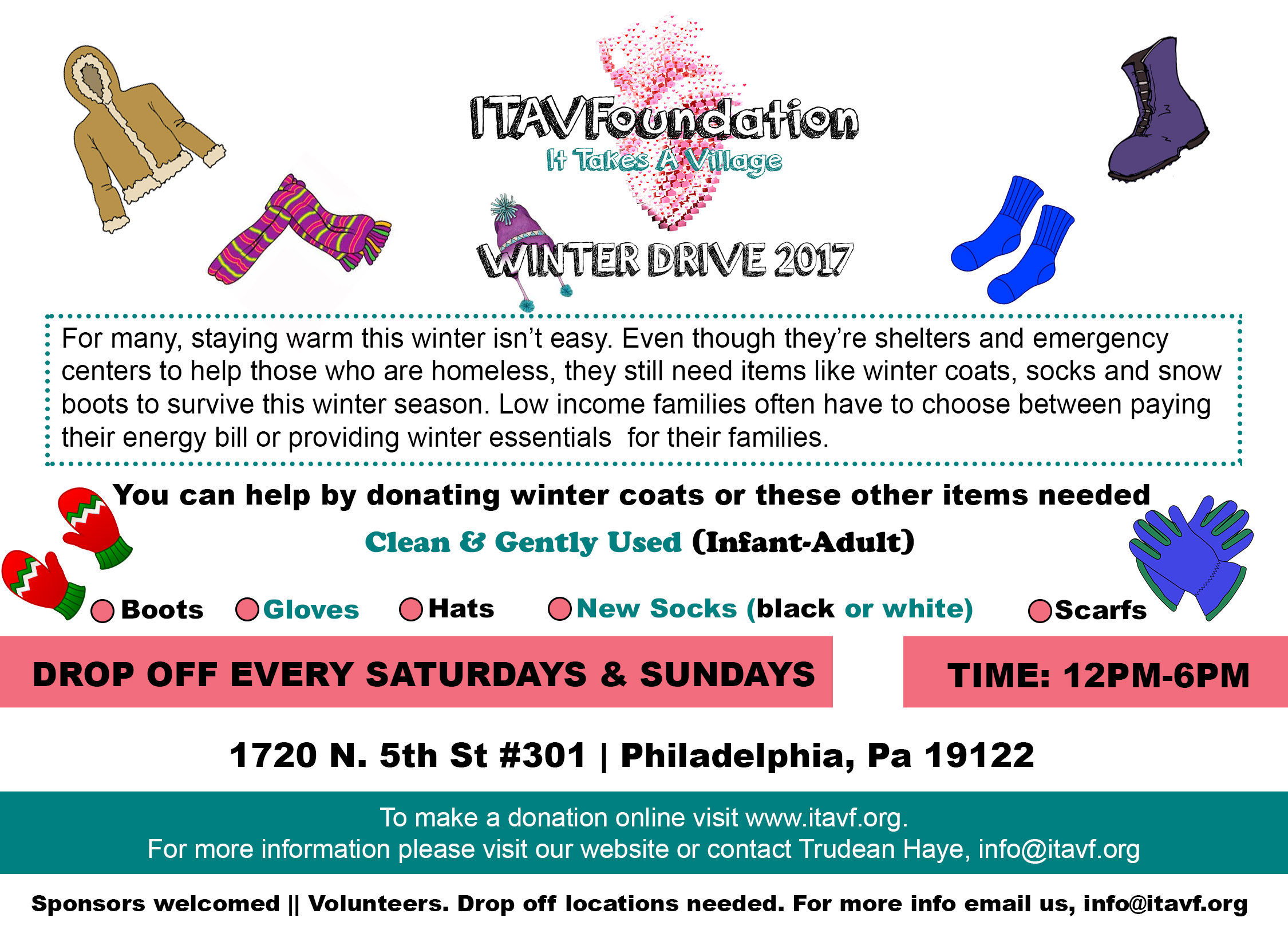 ITAVFoundation Winter Drive