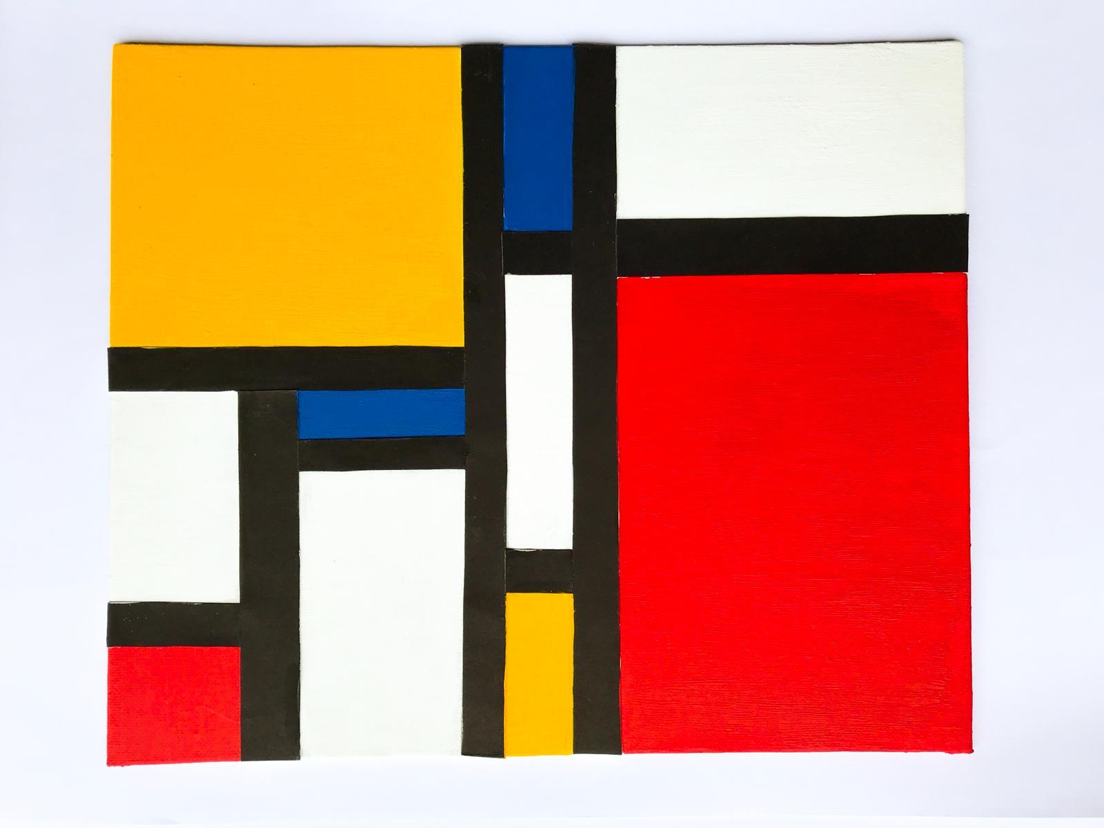 荷蘭抽象派畫家Piet Mondrian 以運用簡單線條及三原色見稱。縱橫交錯的線條及色彩鮮明的方形編織出美感十足的畫作及設計。除了填色外,小朋友亦會在工作坊中做手工藝。