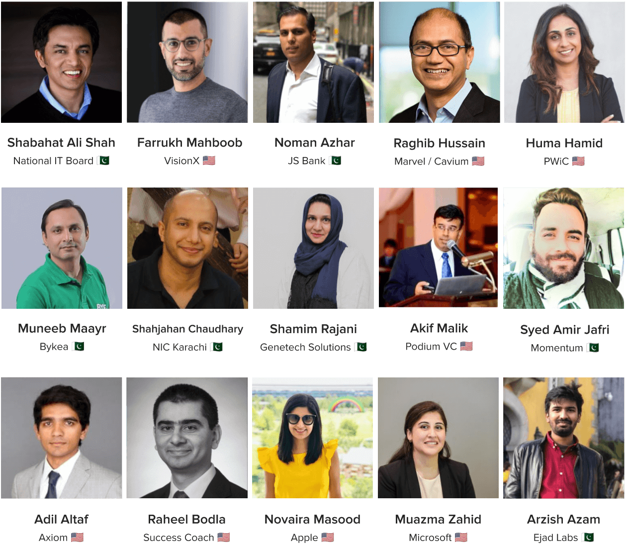 Pakistan Tech Summit - Speakers