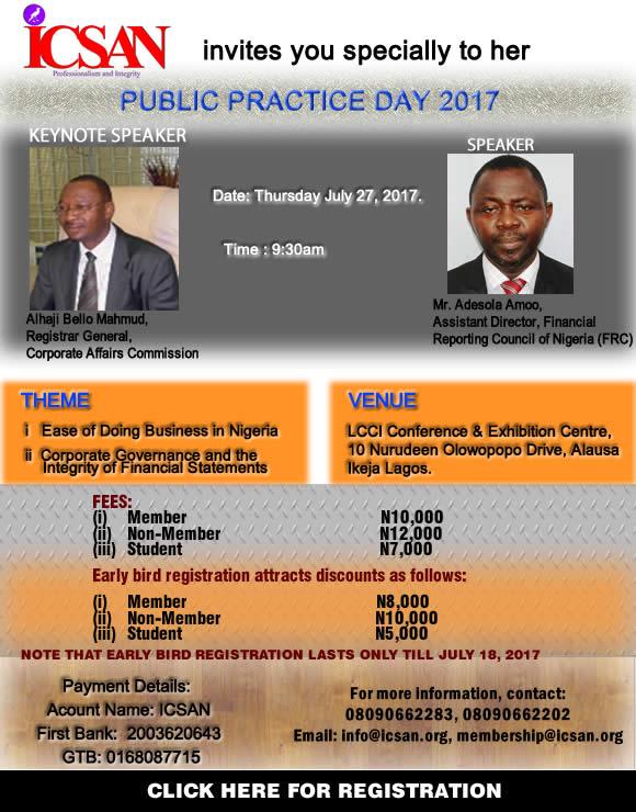 2017 ICSAN PUBLIC PRACTICE DAY