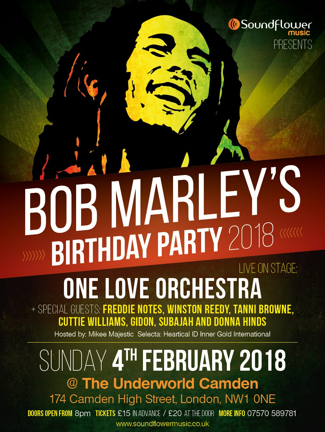 Bob Marley's Birthday Party 2018 with One Love Orchestra