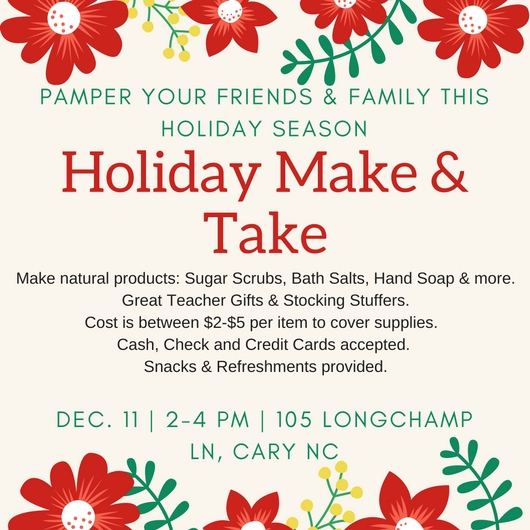 Holiday Make and Take Details