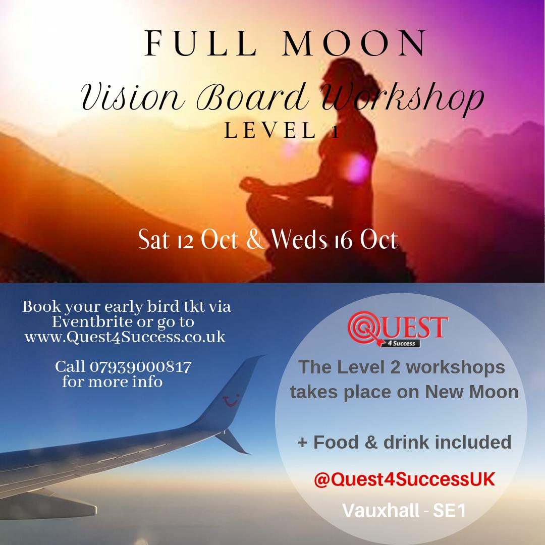 Vision Board Workshop London 2019