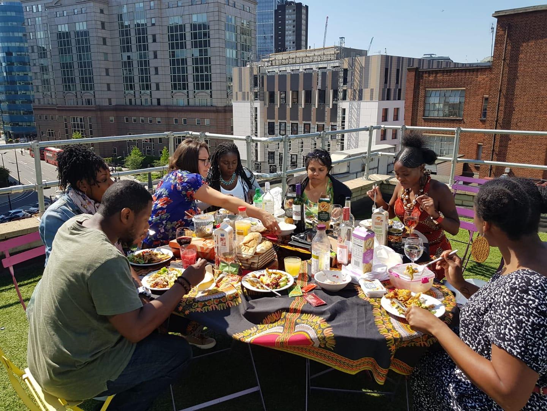 Rooftop Vision Board workshop