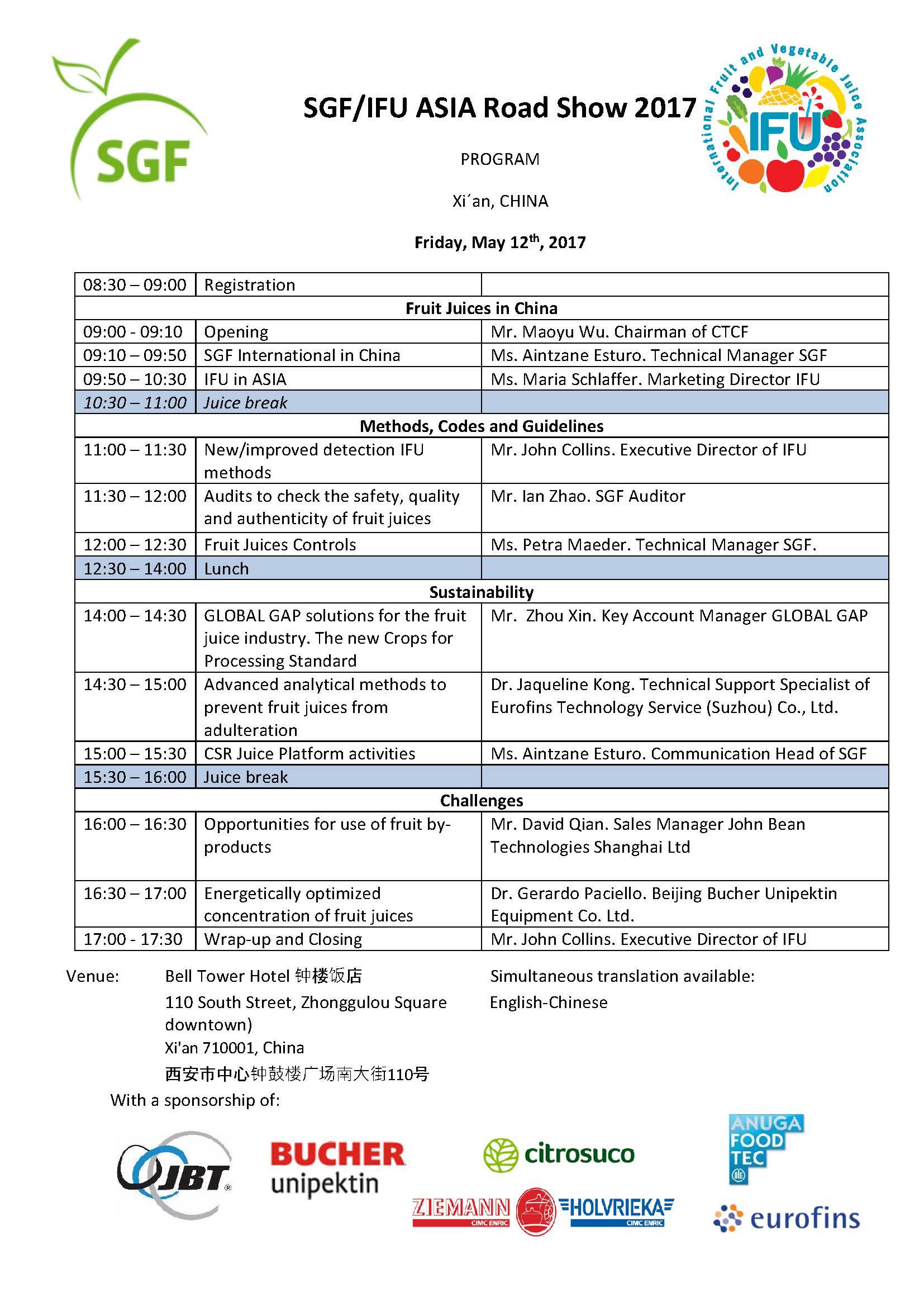 IFU SGF China Seminar program
