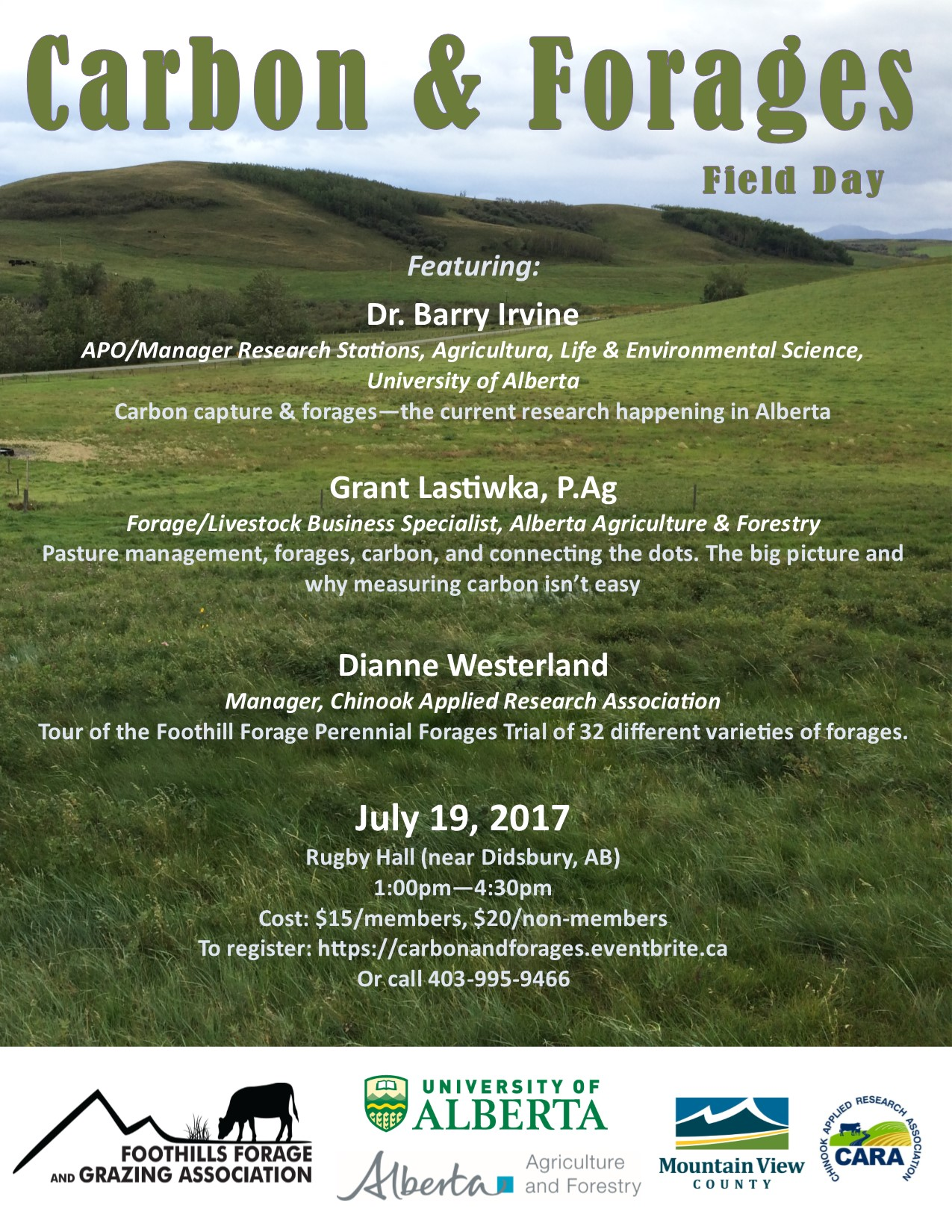 Carbon & Forages Event Poster