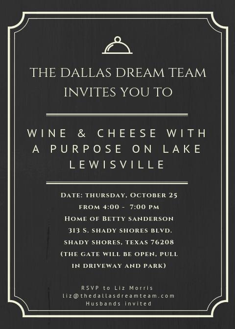 Dallas Dream Team Wine & Cheese Event