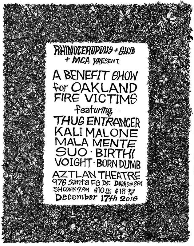 Oakland Benefit Flyer