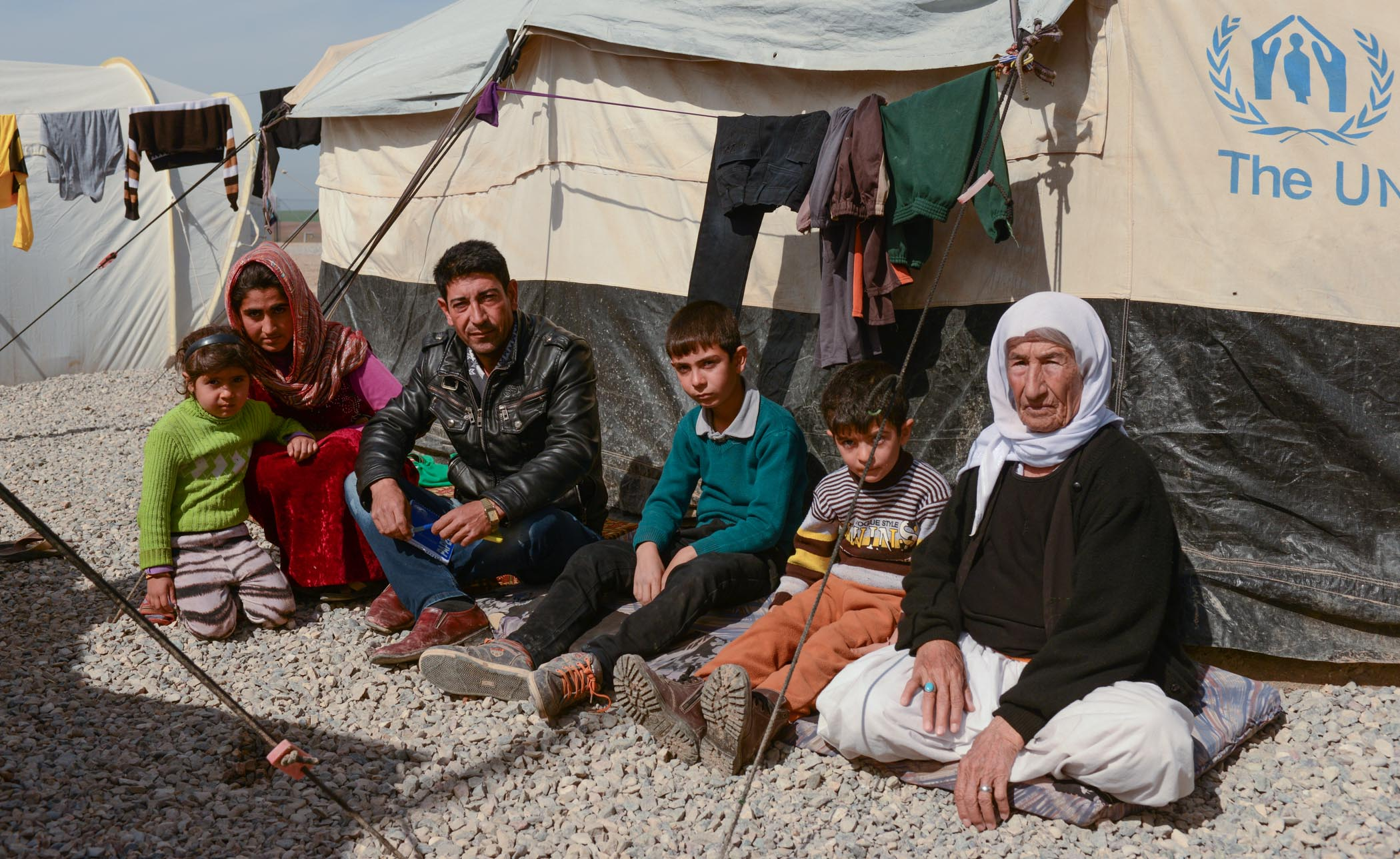 Displaced Family in the Middle East