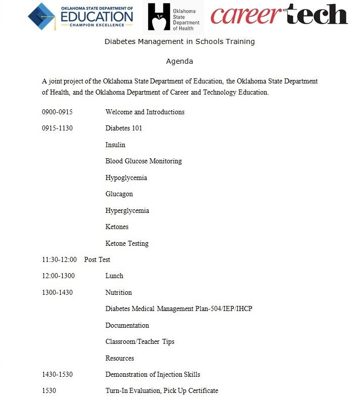 Diabetes In Schools Management Training 2016-17