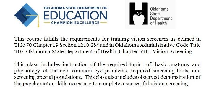 Vision Screening Training (Tulsa)