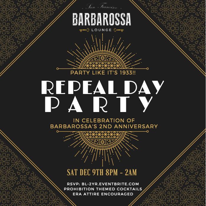 Barbarossa 2 Year Anniversary Flyer