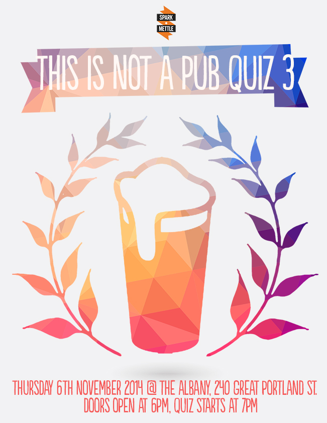 not a pub quiz 3 flyer