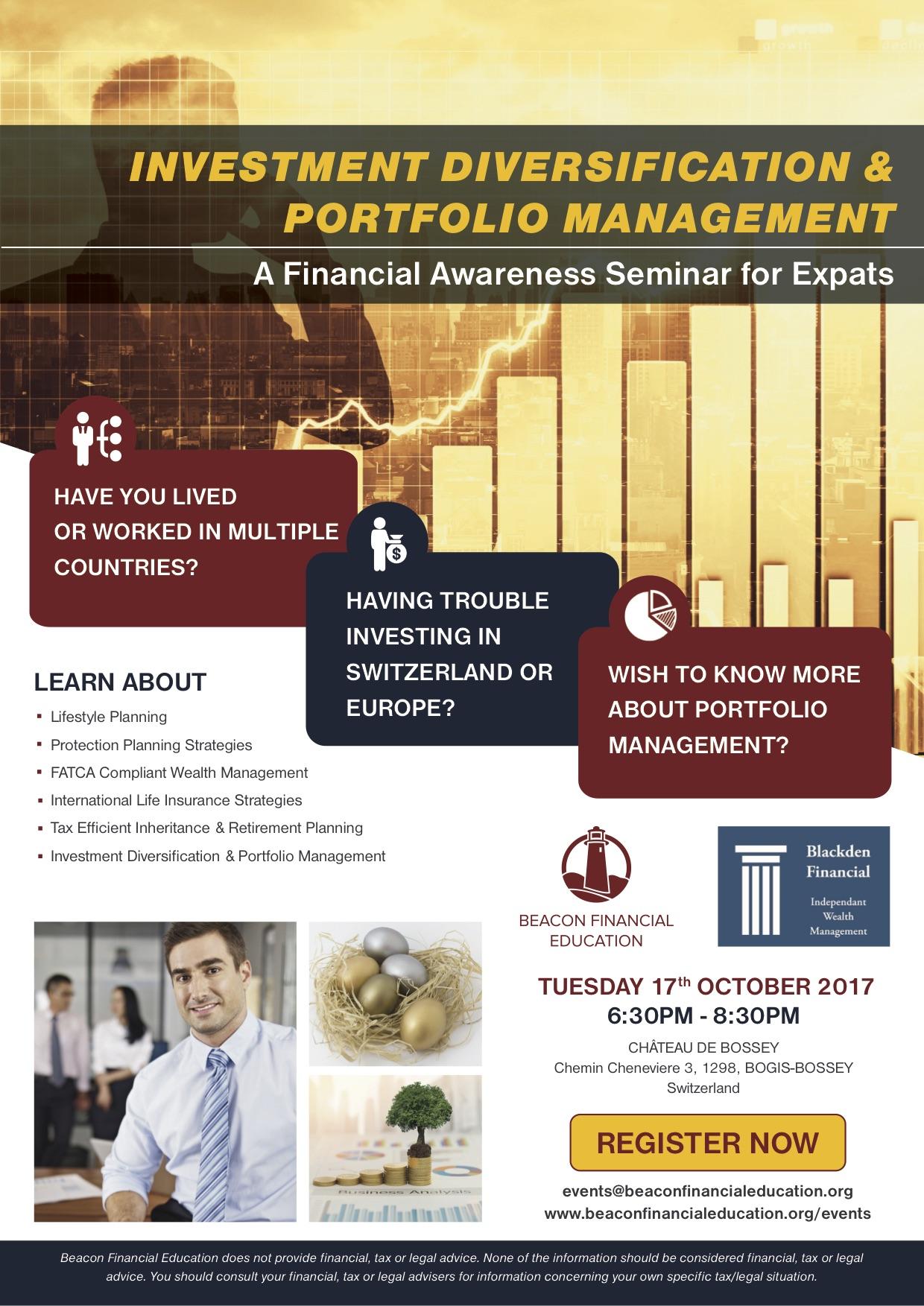 Investment Seminar Switzerland 17 Oct