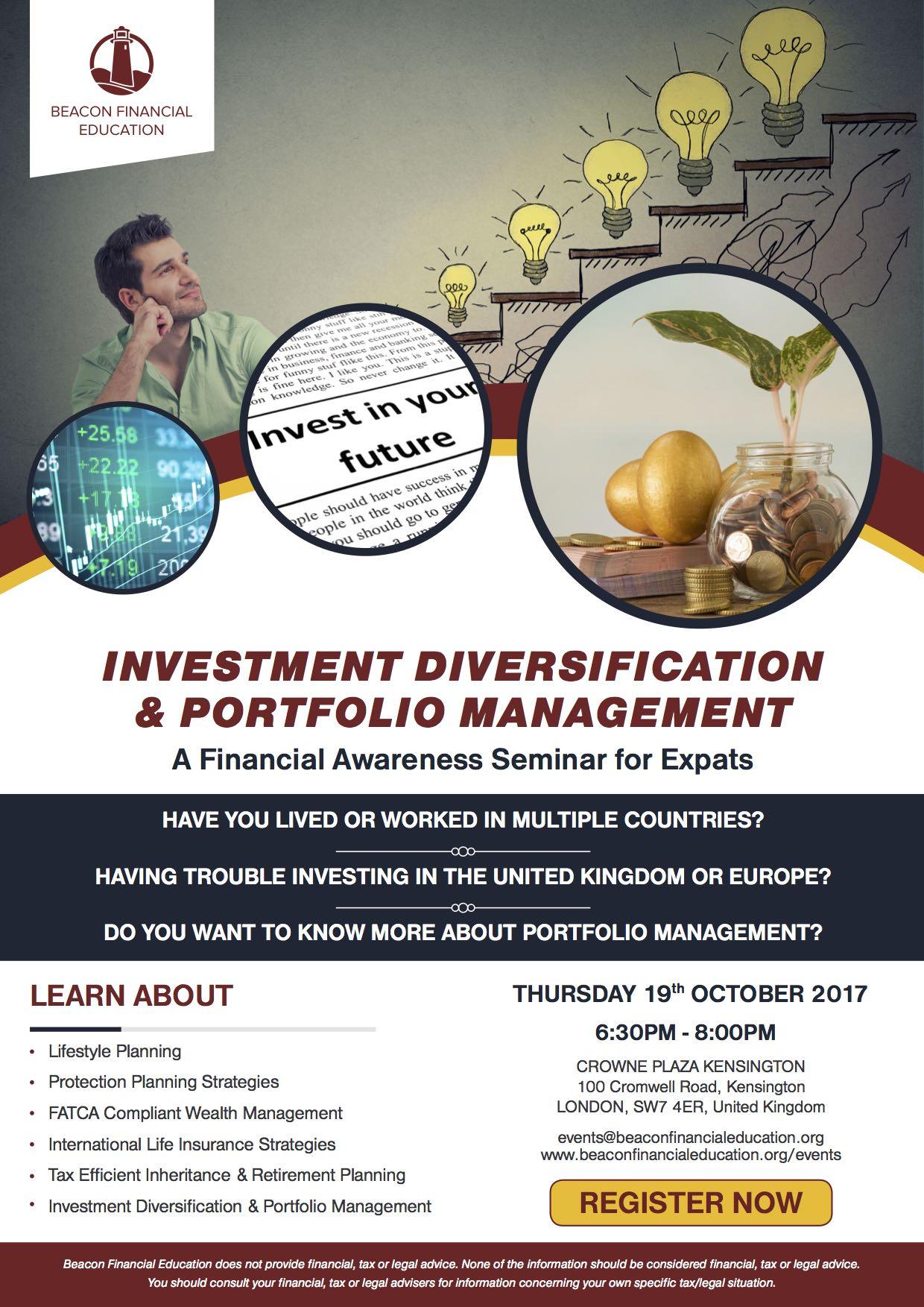Investment Seminar London 19 Oct 2017