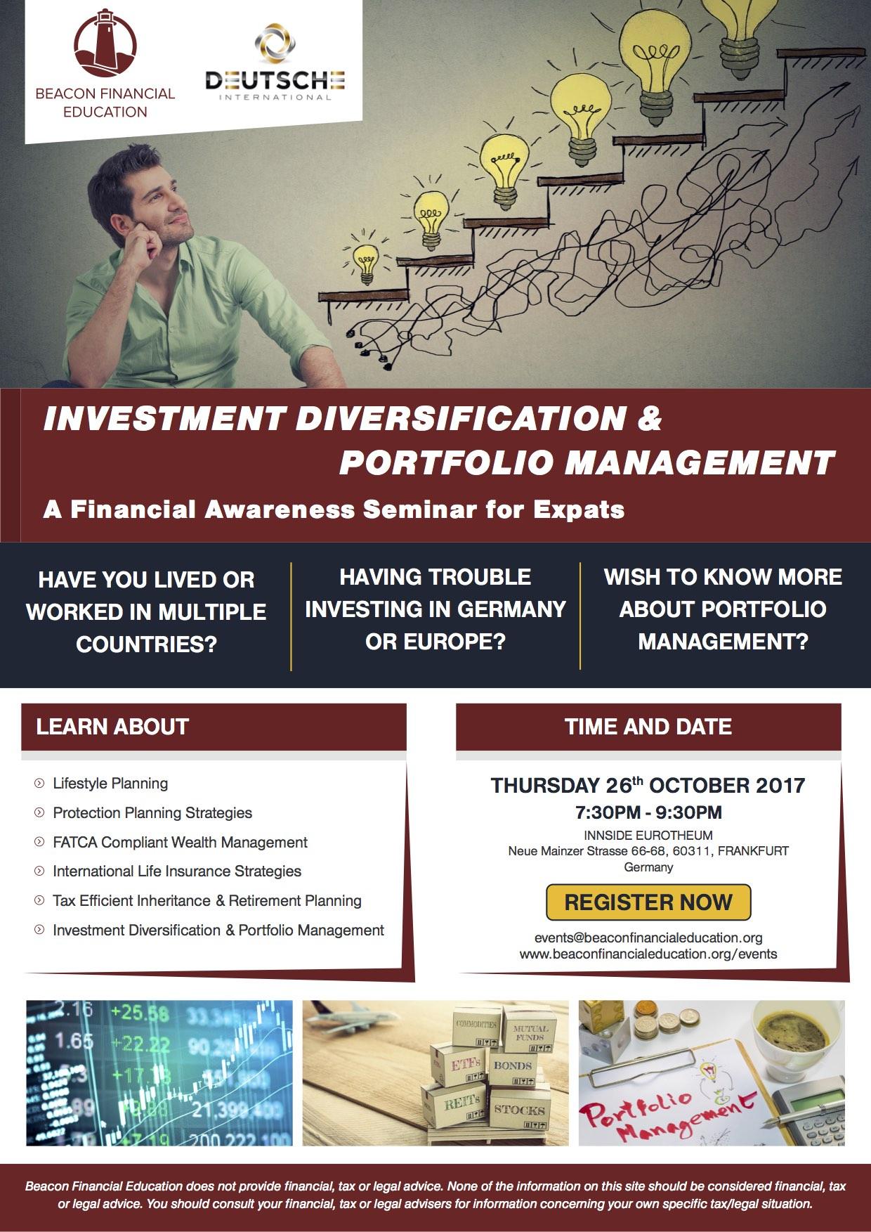Investment Seminar Frankfurt 26 Oct 2017
