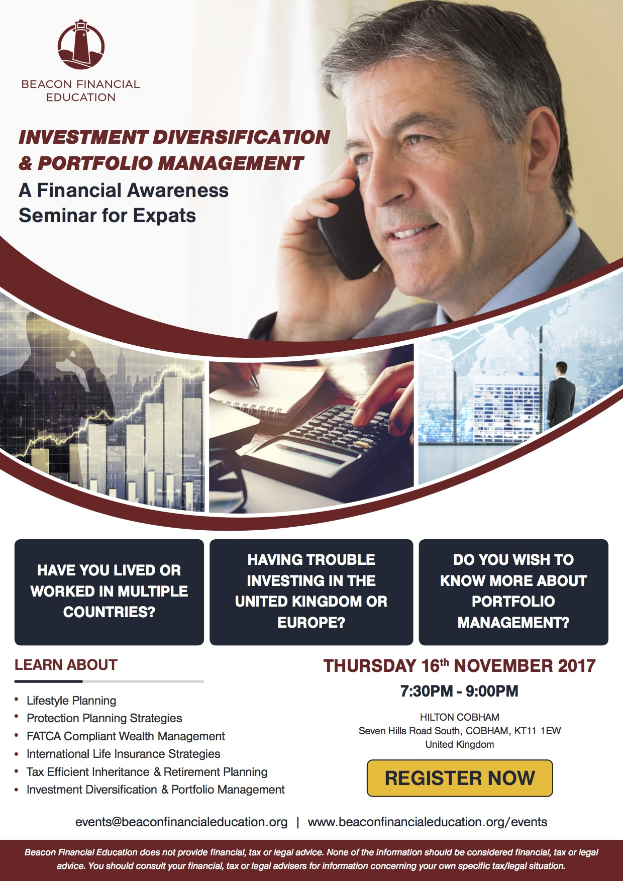 Investment Seminar Cobham 16 Nov 2017