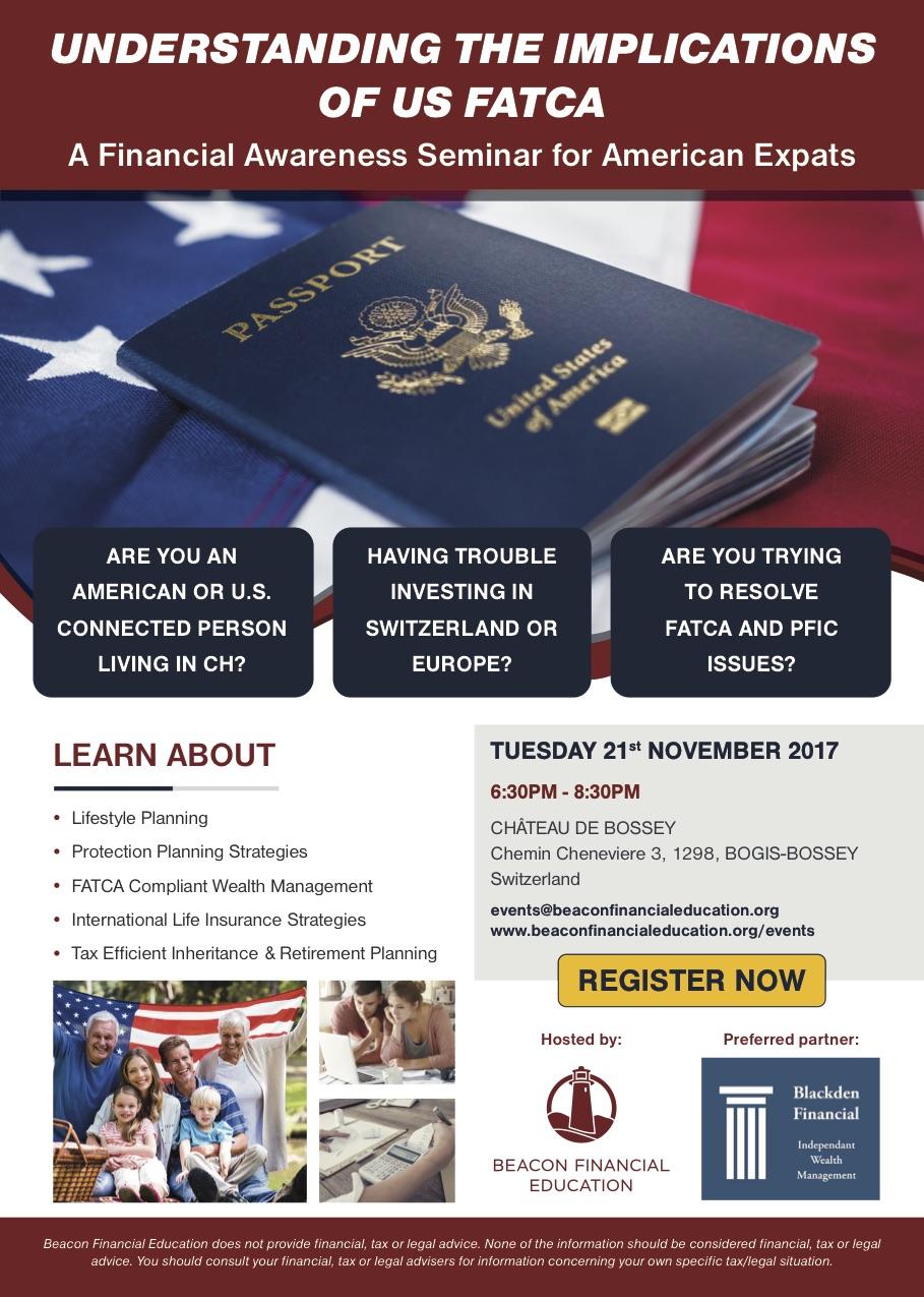 US FATCA seminar Geneva 21 Nov 2017