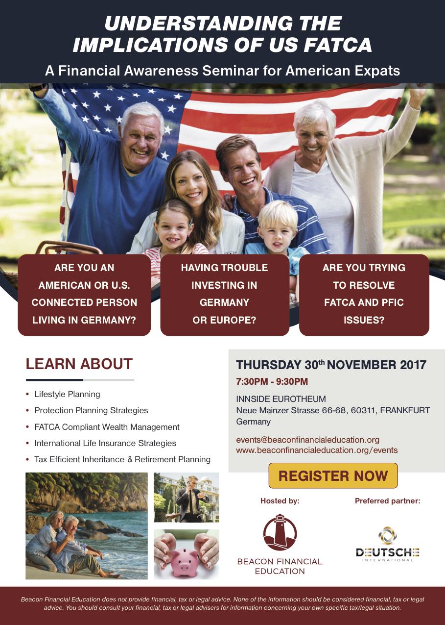 US FATCA seminar Frankfurt 30 Nov 2017